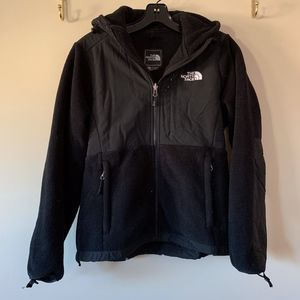 The North Face Denali Hooded Jacket in Black Sz XS